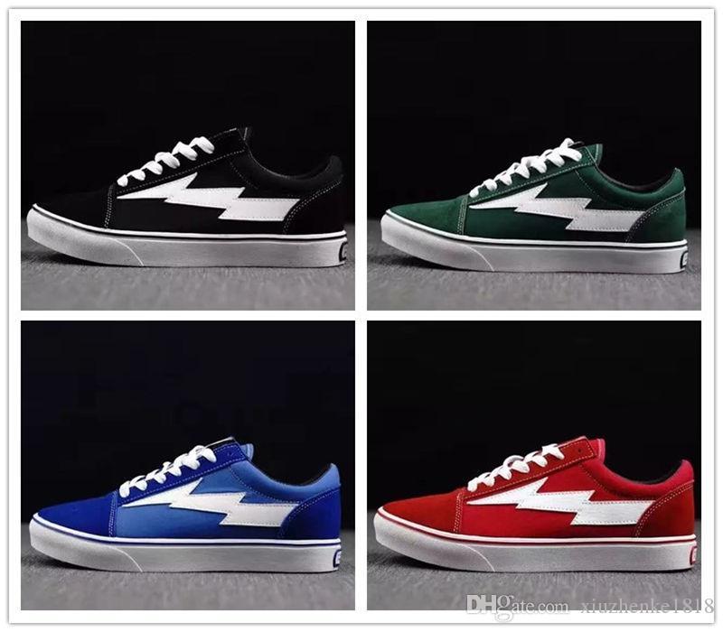 fd7c88ce2bd2 2019 2017 New REVENGE X STORM KANYE Black Green Blue Red Lightning Casual  Shoes High Quality Men Women Revenge X Storm Old Skool From Xiuzhenke1818