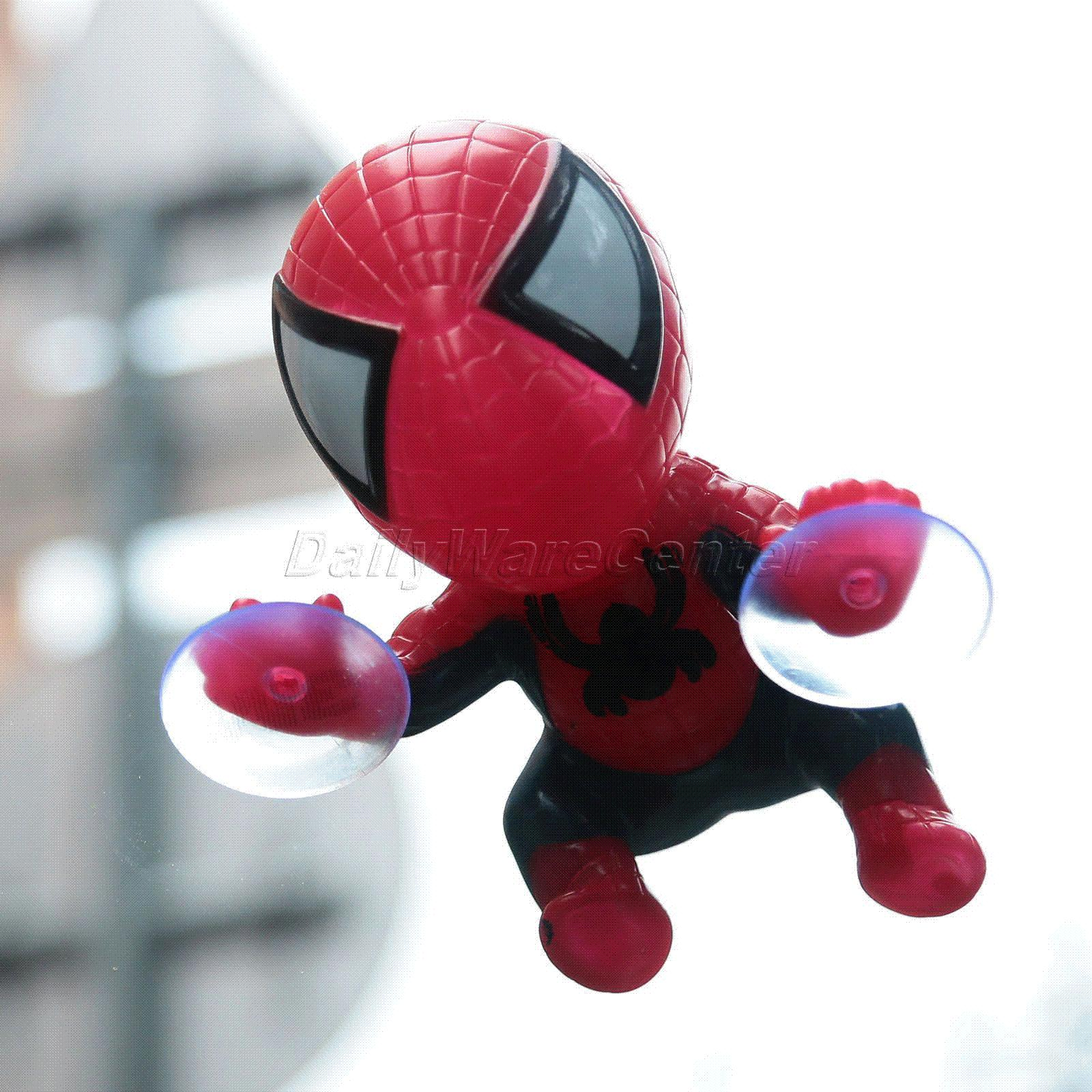 2018 Car Styling Cute Sticker Climbing Spider Man Suction Cup Doll Toy 360 Degree Rotating Decoration Accessories Black Red From Mymother009
