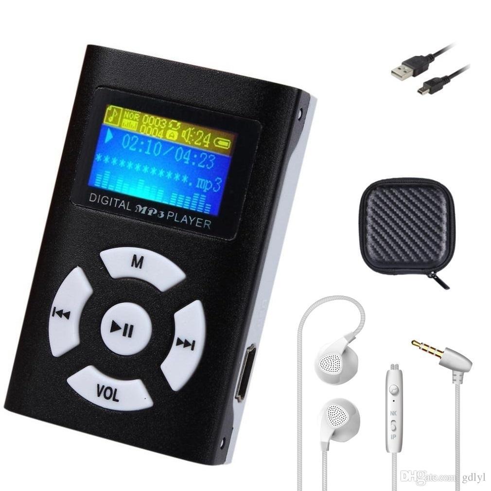 Hifi-player Mp3-player Mini Digitalen Musik-player Audio Mit Lcd Für Sport Jogging Unterstützung Lautsprecher Tf-karte Mit Lanyard Hifi-geräte