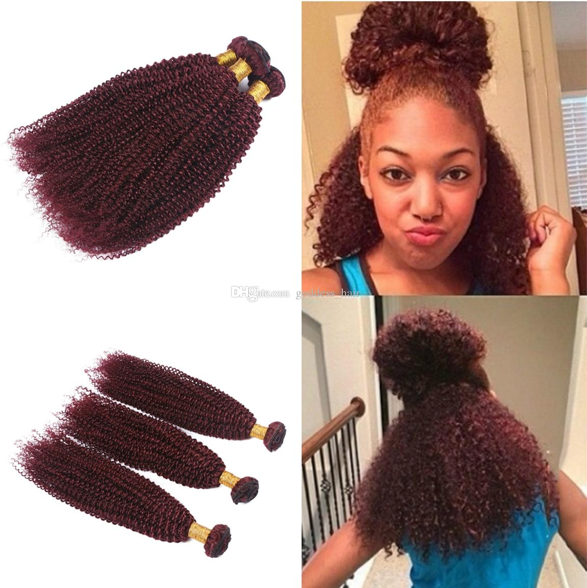 Cheap wine red 99j kinky curly hair weaves malaysian pure color cheap wine red 99j kinky curly hair weaves malaysian pure color human hair bundles burgundy 99j afro kinky curly hair extensions human hair extensions weave pmusecretfo Image collections