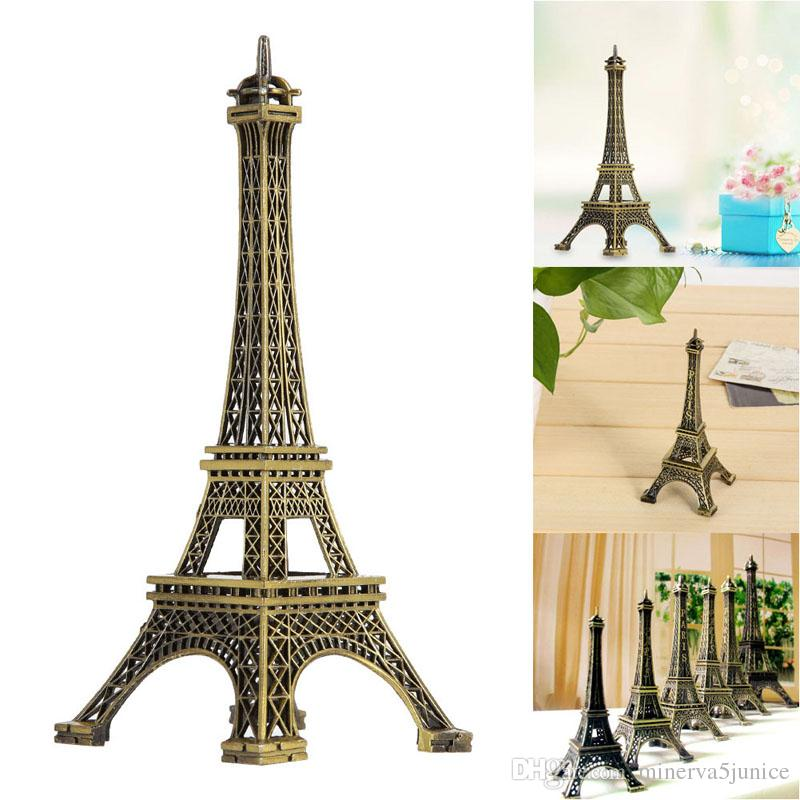 2017 Paris Eiffel Tower Model Bronze Tone Decorative Furnishing Articles Decoration Vintage Craft Mold Figurine Statue Home Decor From Minerva5junice