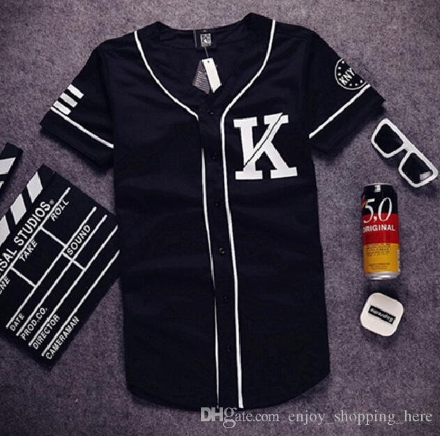 Baseball T Shirt Misbhv Knyew 07 Jersey Trend Fashion Hip Hop ...