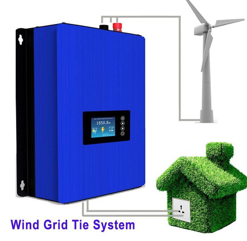 1000w Wind Power Grid Tie Inverter With Dump Load