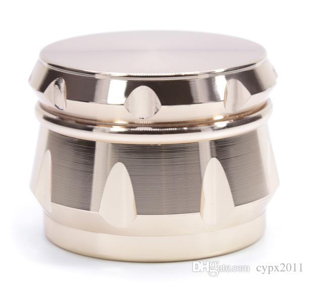 Çinko alaşımı elmas şeklindeki pah tarafı yan içbükey davul tipi öğütücü çapı 63 MM yeni sigara içenler