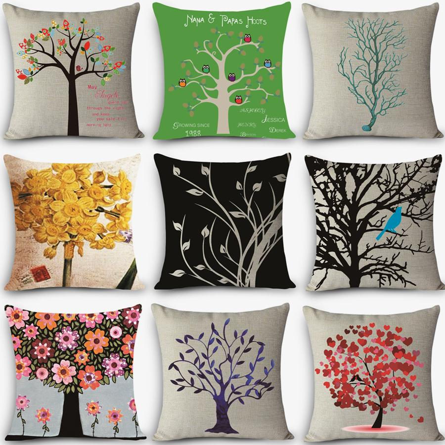 Wholesale High Quality Decorative Throw Pillow Customized Hd Tree ...