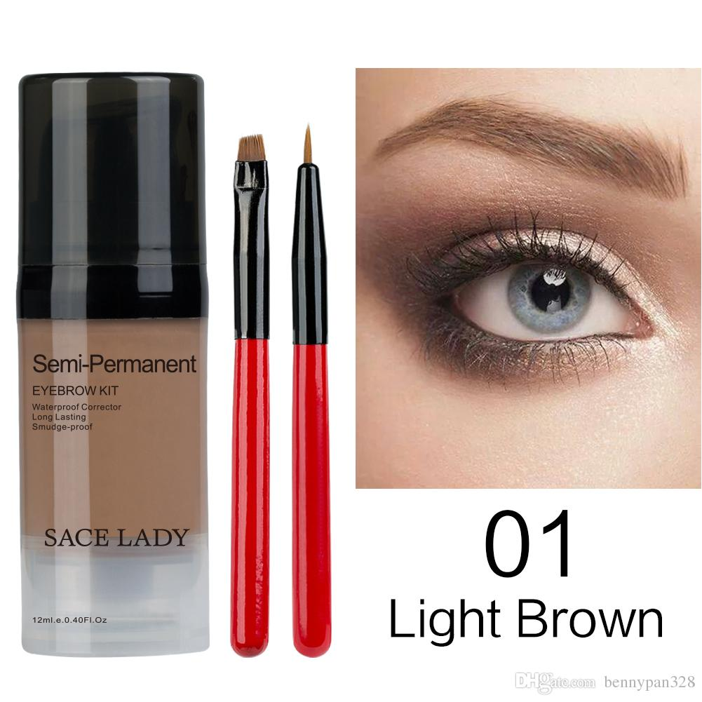 Eyebrow Tint Kit Waterproof Long Lasting Eyebrow Dye Gel Mascara For