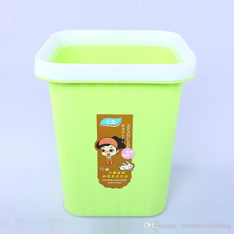 2018 Square Trash Can Kitchen Rubbish Bin Plastic Garbage Mini Waste Paper  Basket Living Room Square Storage Barrel From Lyhomefurnishing, $5.93 |  Dhgate.