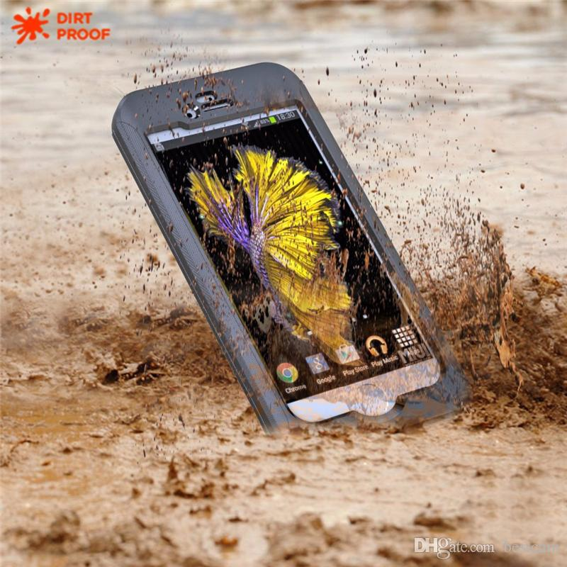 For IPhone 7 Plus Waterproof Shockproof Armor Case With Available Buttons Touch ID Rugged Protection Film for IPhone 6 6S Plus Samsung S7 S6