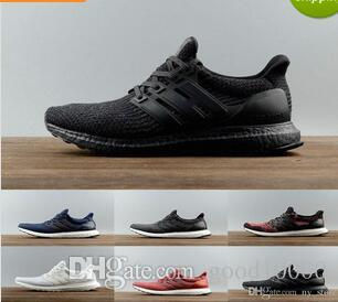 caee04fd76067 Cheap Casual Shoes 2017 Ultra Boost 3.0 5.0 Triple Men Women Ultraboost 3  Primeknit Black White Mens Womens Trainers Sneakers Tennis Shoe Walking  Shoes Flat ...