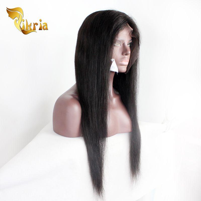 Parrucca diritta dei capelli umani del merletto completo Glueless malese con i capelli del bambino Parrucca anteriore brasiliana dei capelli del pizzo peruviana del brasiliano le donne nere
