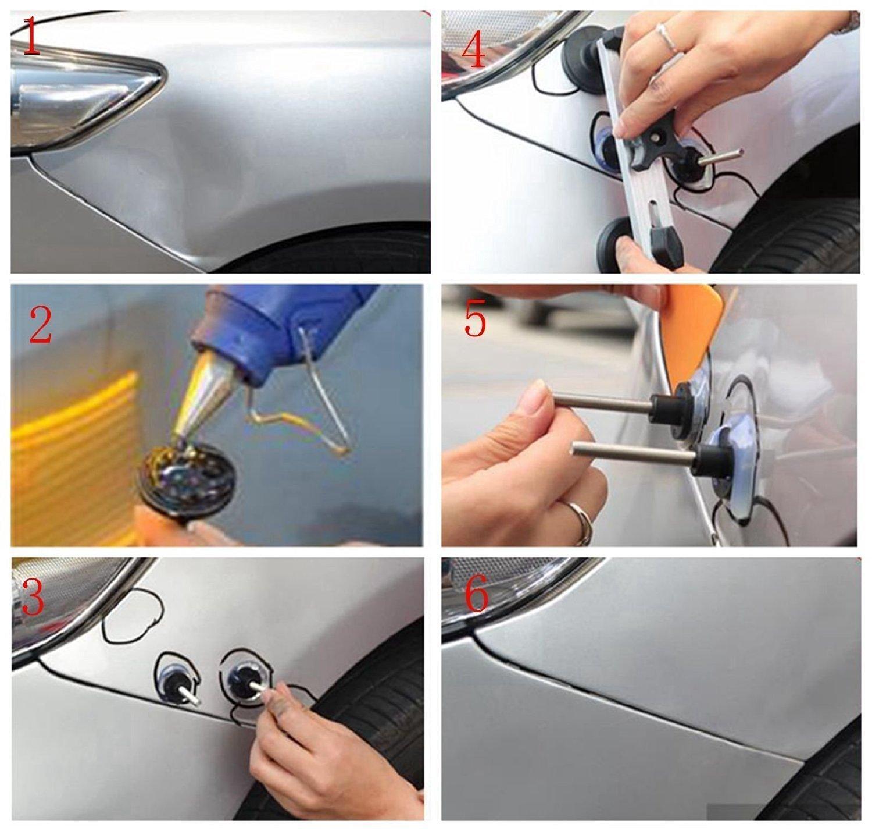 전문 브리지 풀러는 자동차 모토 손상 제거를위한 페인트없는 덴트 수리 도구 키트를 제공합니다. 큰 주문 큰 할인