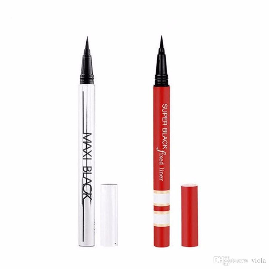 YANQINA Makeup Eyeliner Pencil Waterproof Black Eyeliner Pen No Blooming Precision Liquid Eye liner Pencil 12pcs/set silver red tube