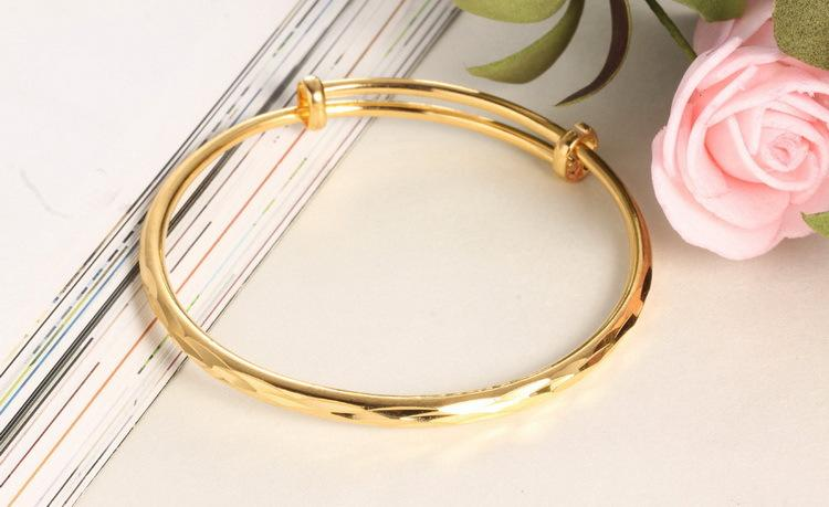 The bride wedding accessories smooth classic car flower pull mouth plated women bracelet