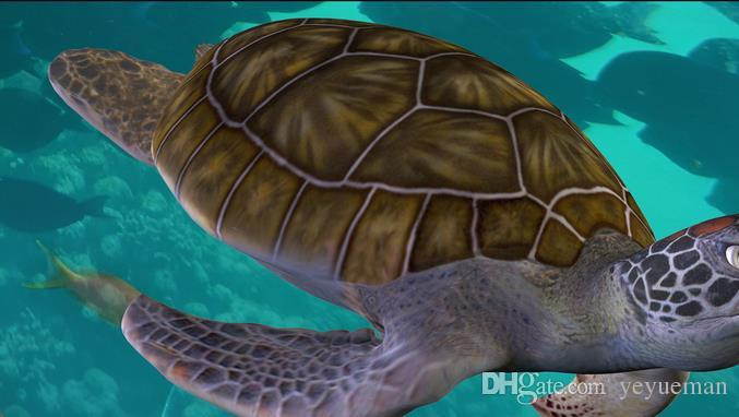 Su geçirmez Çevre koruma 3d kat özelleştirmek papel de parede Sualtı Dünya Kaplumbağa Yunus fotoğraf 3d zemin duvar resimleri duvar kağıdı
