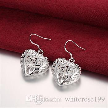 Vente en gros - Boucles d'oreilles fantaisie en argent Sterling 925 cadeau de Noël E075