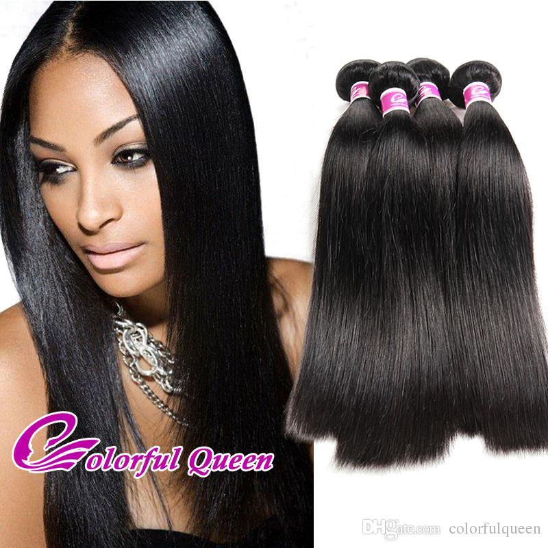Raw Indian Hair Weave 3 Indian Curly Human Hair Bundles Straight