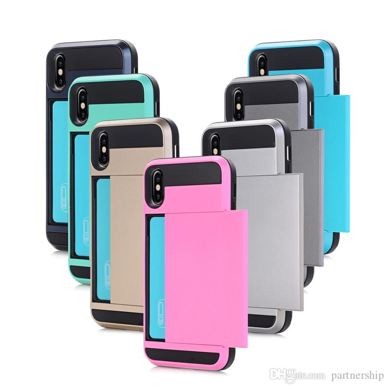 Heavy Duty Business Card Case Holder For Apple Iphone X 8 6 6s 7 ...