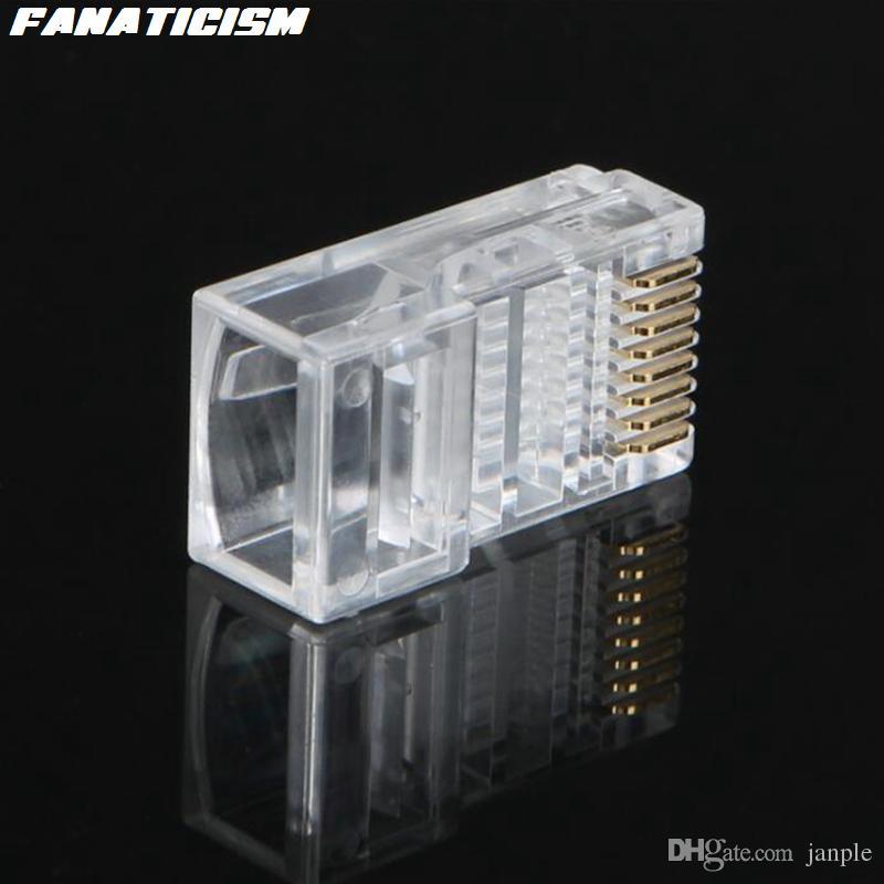 / hagh Quality RJ45 RJ-45 CAT5 Connecteur de réseau modulaire CAT5 8P8C 8 PIN 8 Contacts Connecteur modulaire RJ45 LAN