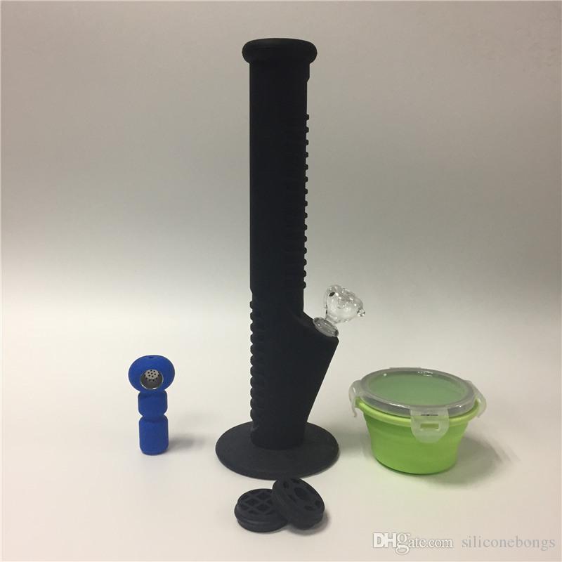 04 Bongs de silicona de diseño único 2017 Tubos de agua de silicona irrompible Tubos de agua de silicona y tubos de mano