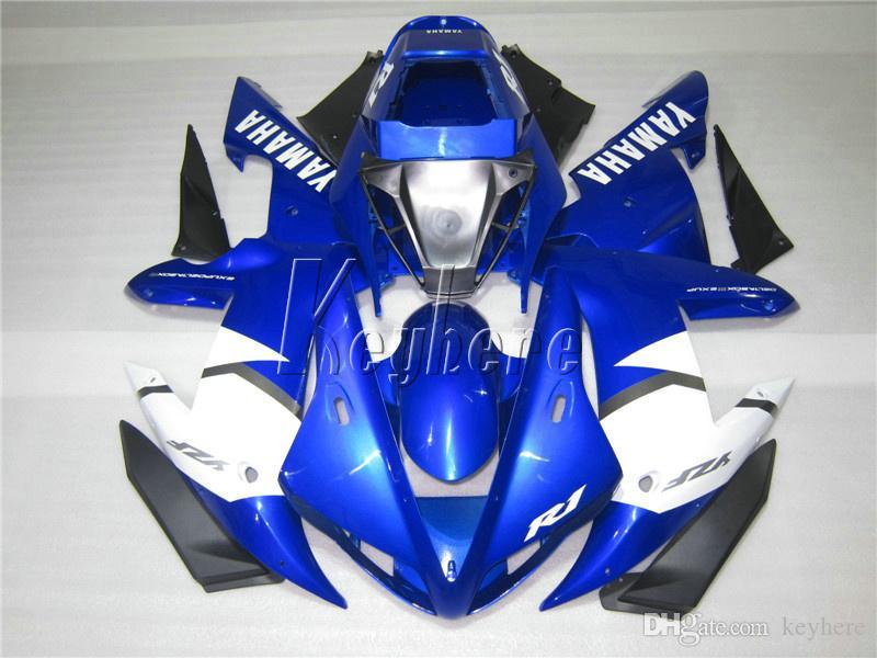 Комплект обтекателя мотоциклов для Yamaha YZF R1 02 03 Blue Countrock Ctraging Set YZF R1 2002 2003 OI66