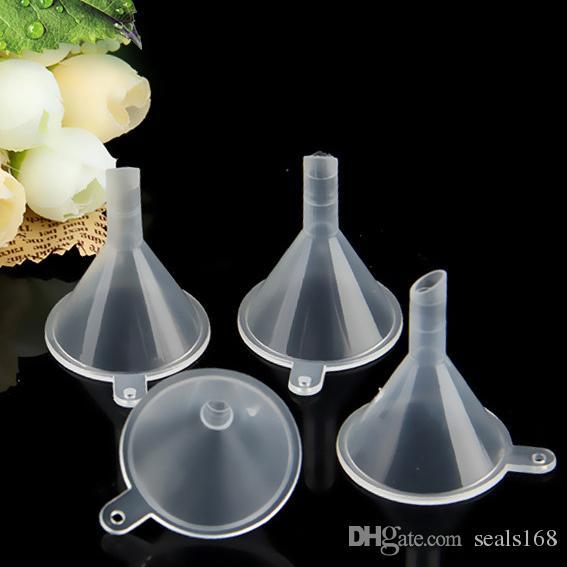 Transparente Mini Plástico Funis Pequeno Perfume Líquido Óleo Essencial De Enchimento Garrafa Vazia Embalagem Cozinha Bar Ferramenta de Jantar DHL Navio PX-F01
