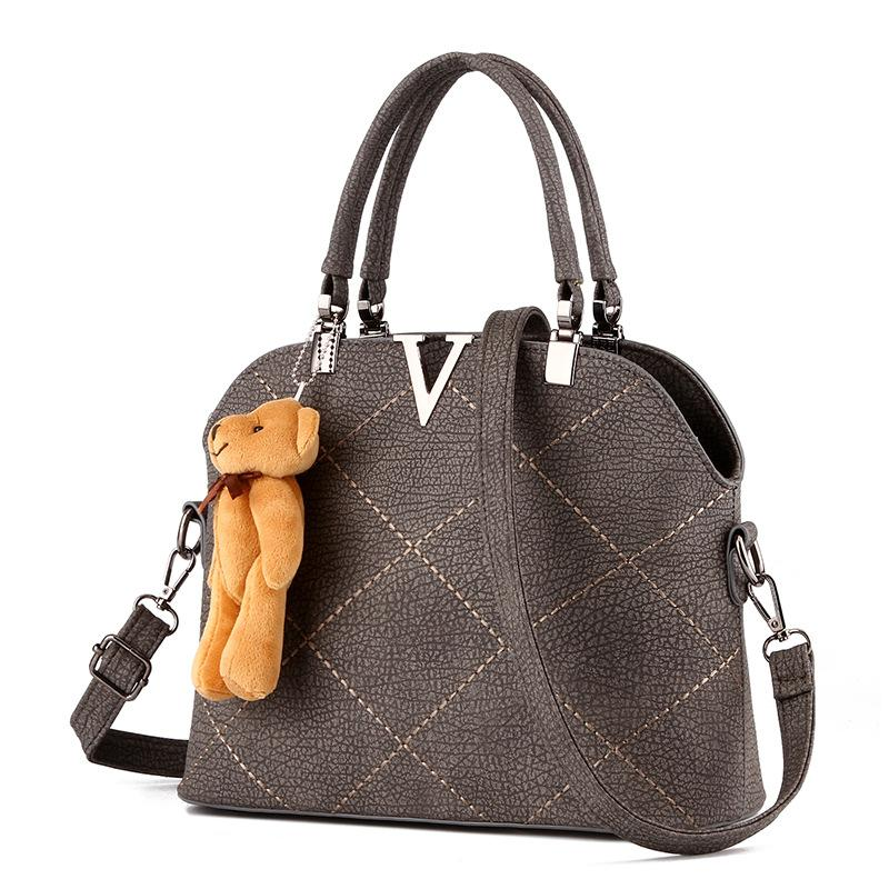 0c6cc27c5e Wholesale- Lady Plaid Leather Portable Bag Luxury Women Designer ...