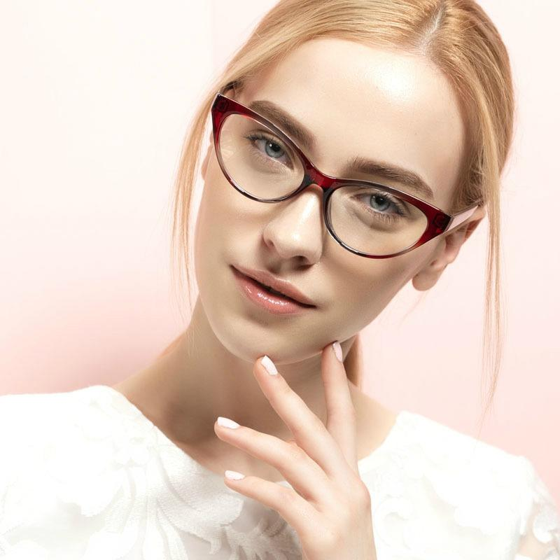 4a3567a109b 2019 Wholesale Top Quality Unbreakable Tr90 Women Clear Eyeglasses Frame  Titanium Cat Eye Frames Optical Eyewear Nerd Transparent Eyeglass Tag From  ...