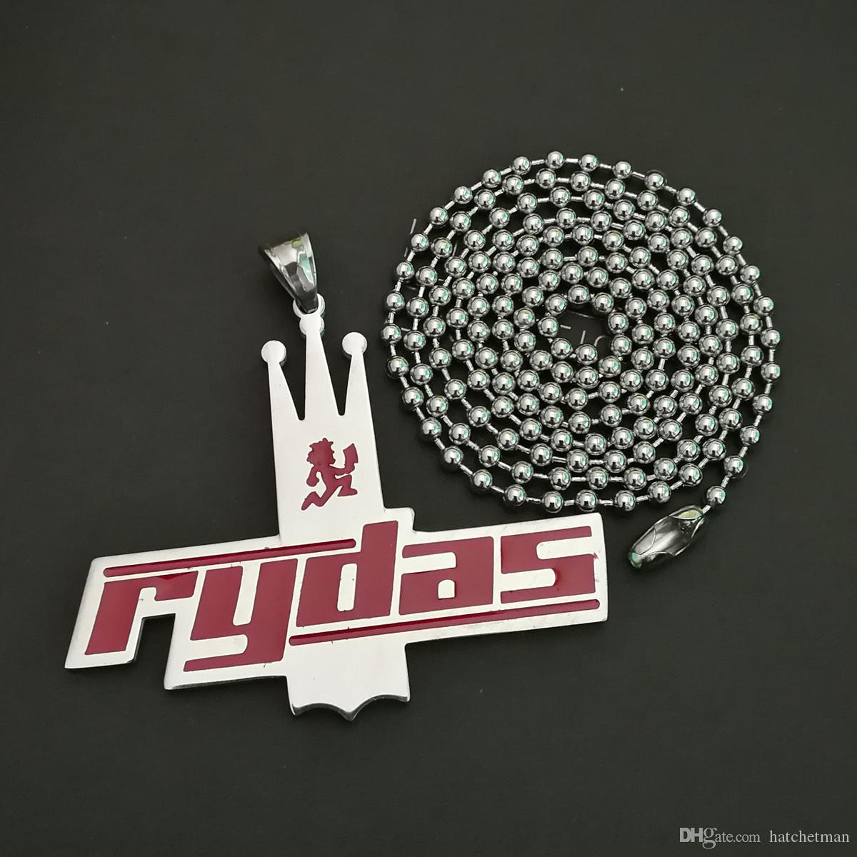 NUOVO pendente di fascino della corona rossa di Psychopathic Rydas ICP Twiztid / 30 '' palla neckalce Alto smalto può essere personalizzato fascino