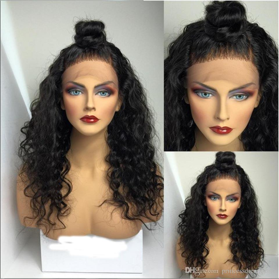 Hot Cheap Mongolian Kinky Curly 300 density Human Hair Wig Heavy Density Full Lace Wig Glueless Lace Front Wig For Black Women