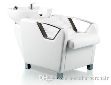 See larger image. 2017 Elegant Hair Salon Furniture White Shampoo Unit Cheap Salon