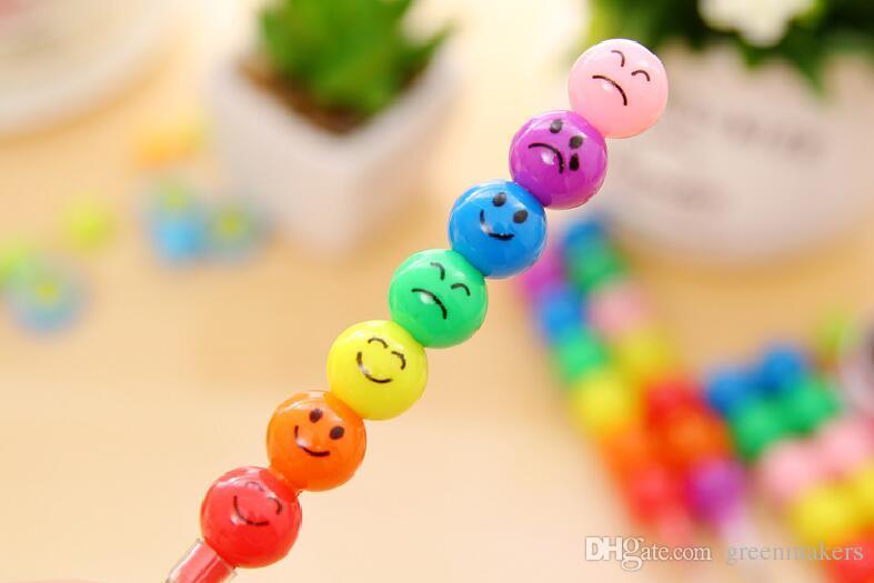 7 Farbe WaterColor Pinsel Smiley Cartoon Stifte Bleistift Marker Kinderspielzeug Geschenke emoji Aquarell Buntstifte kostenloser Versand