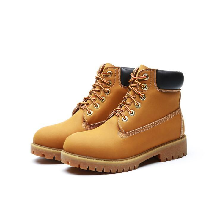 0e687870aa6 2017 Autumn Early Winter Shoes Men Women Flat Heel Martin Boots Fashion  Women's Boots Brand Woman Shoes Ankle Boots Couples Outdoor Boot