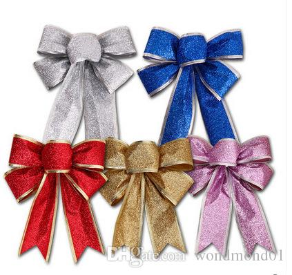 big bow tie 25 20cm christmas tree ornament decorations xmas decorations xmas bow tie decorations high quality wholesale in stock decorate your home for