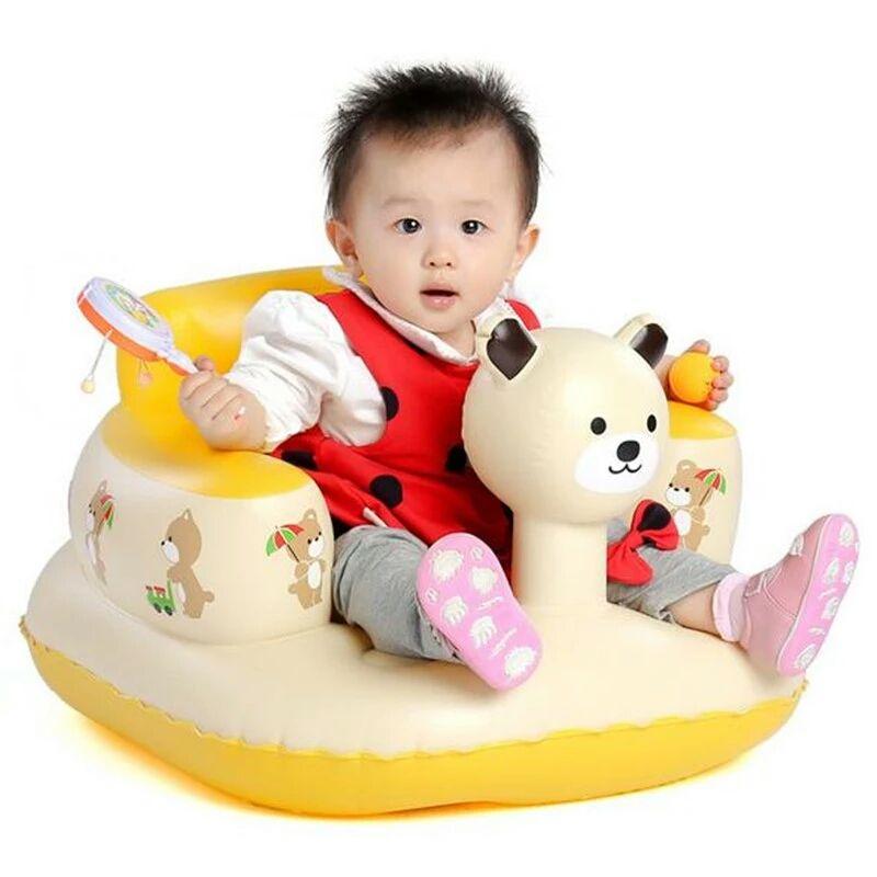 Baby Inflatable Bathroom Bath Stools Panda Children Learn Sofa Chair ...