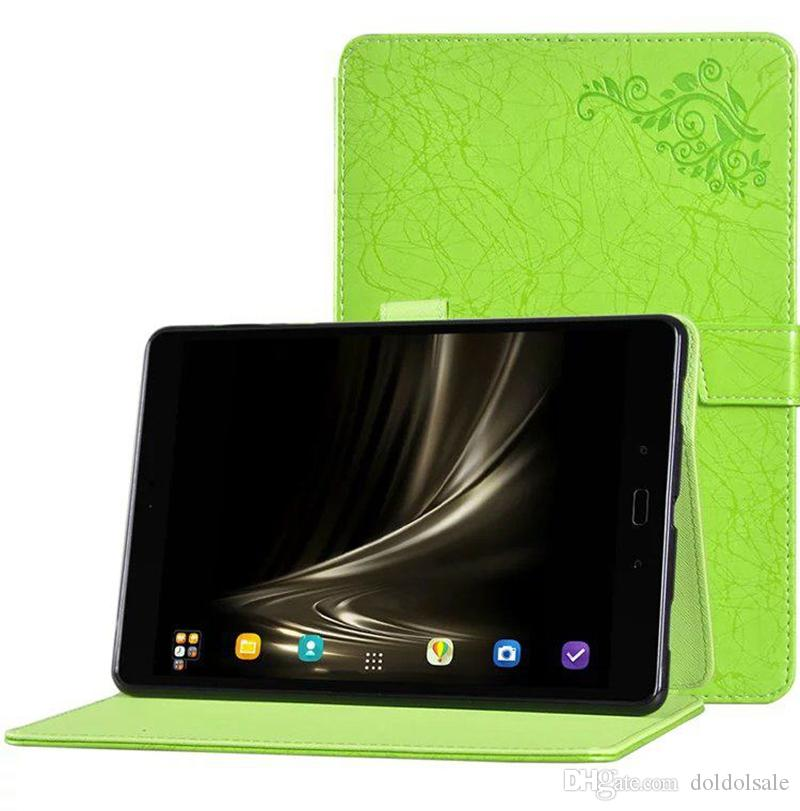Luxury Print Flower PU Leather Case Cover for Asus Zenpad 3 8.0 Z581KL 8 inch Tablet with TPU + Stylus Pen