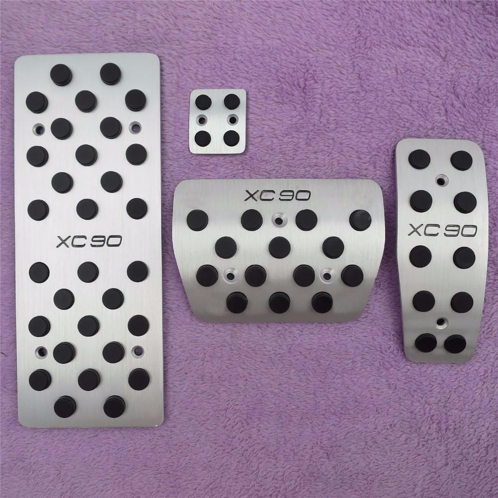 Car Accessories For VOLVO XC90 Fuel Brake Foot Rest Automatic pedals Plate Non slip Accelerator brake AT pedal Pads,Car Styling