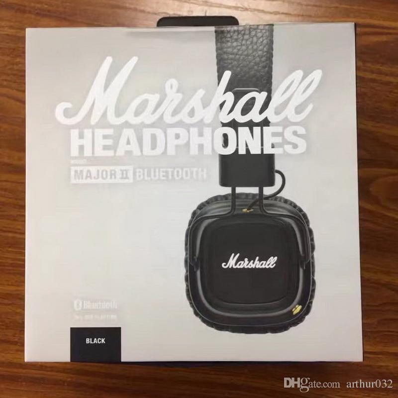 Marshall Major II Cuffie Bluetooth con microfono Deep Bass DJ HiFi Cuffie Cuffie professionali Monitor DJ Auricolare con confezione al dettaglio