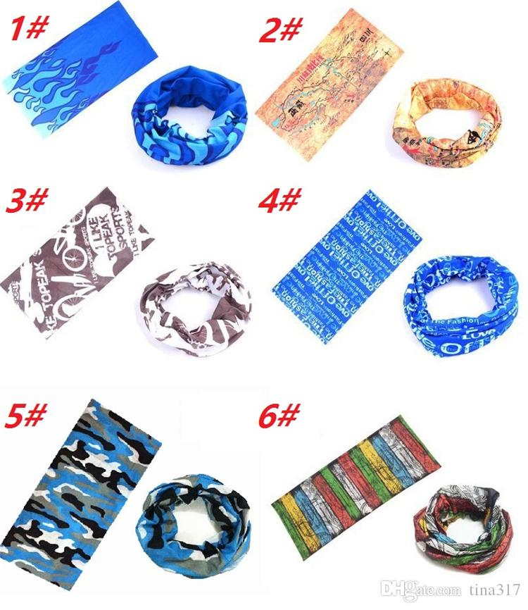 New Hot Fashion Multifunctional scarf Headband Outdoor Sports Turban Sunscreen Magic Scarves Veil Cycling Seamless bandanas C018