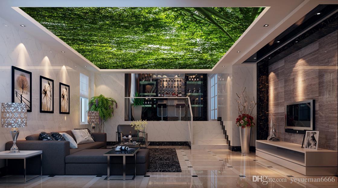 Superbe Wallpaper 3d Nature Green Forest Landscape Soundproof Ceiling 3D Wallpaper Living  Room Room Home Improvement Ceiling Murals 3d Murals Wallpaper Wallpapers ...