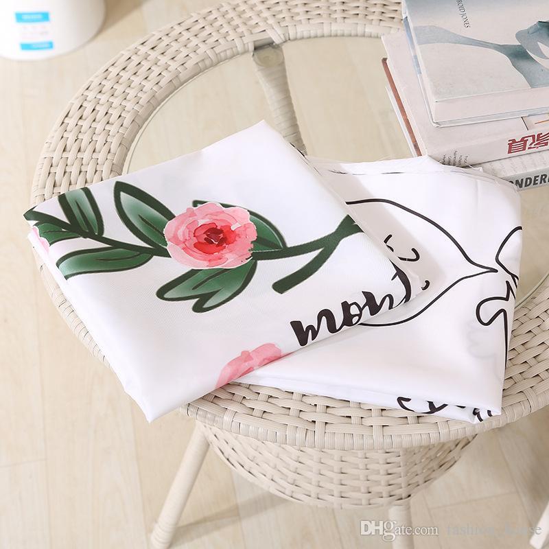 Säuglingsbabyjungen-Mädchenblumendecken Abbildung Brief Decke Kinder Kinderzimmer Bettwäsche Kinder Photograp Decken Swaddling 2Style A 080