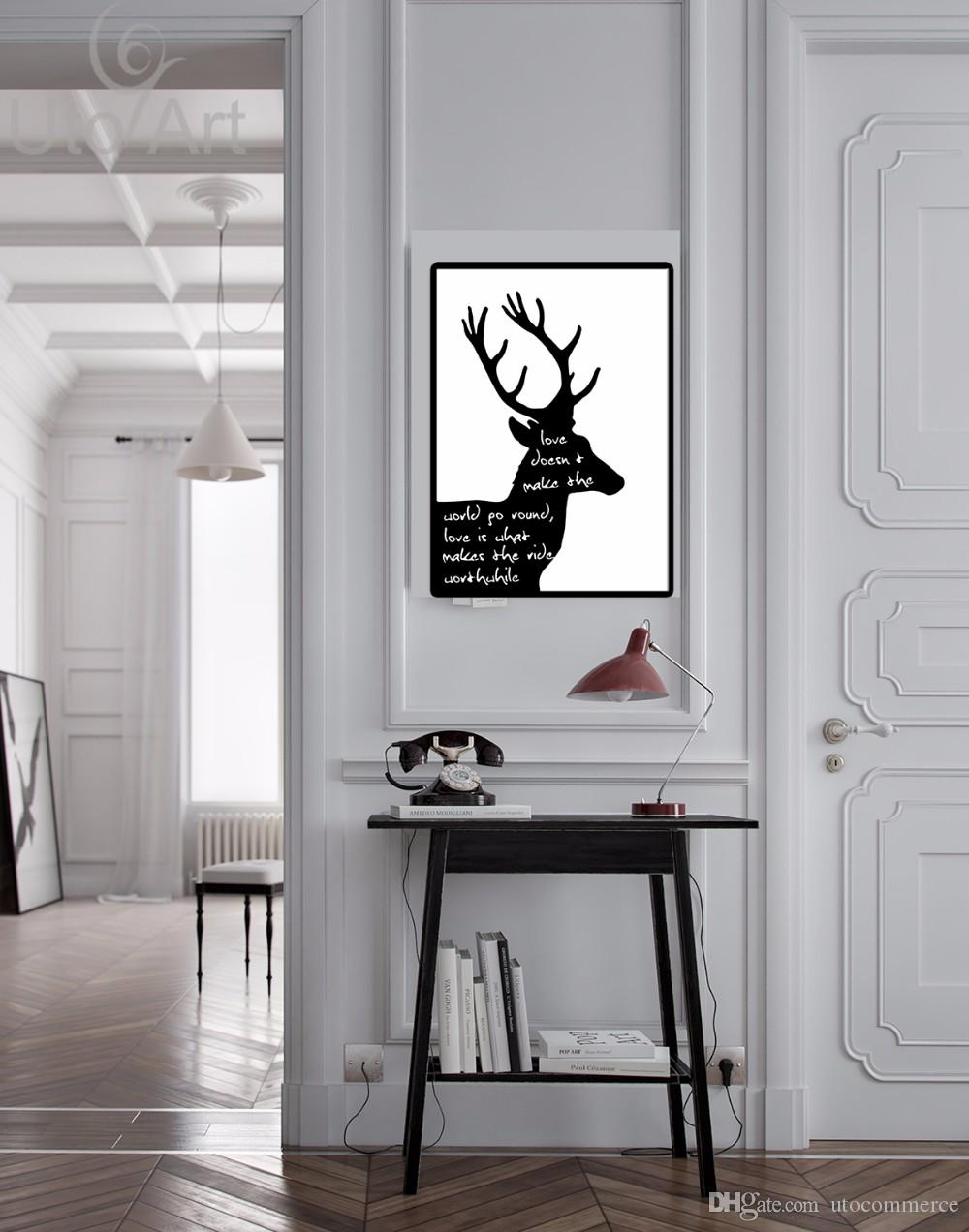 Guarantee Home Decorative Pieces Canvas Art Europe Modular Pictures on the Wall Black and White Canvas Painting Deer for Home