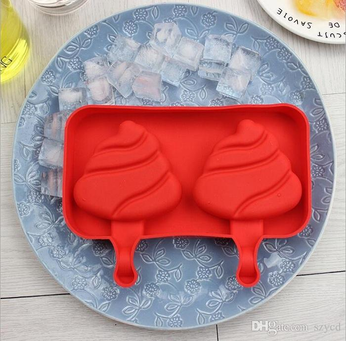 Silicone Cartoon Cute Ice Pop Molds Popsicle Molds Ice Trays Ice Cream Maker Frozen Holder Mould Kitchen Tools