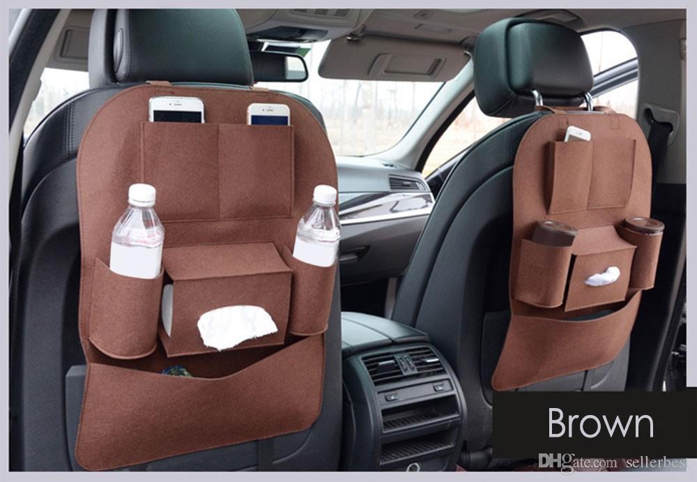 Assento Do Veículo Do carro de Volta Arrumado Organizador Multi-bolso Titular Saco De Armazenamento Bolsa Sentiu Material com Multi-bolso Design Universal