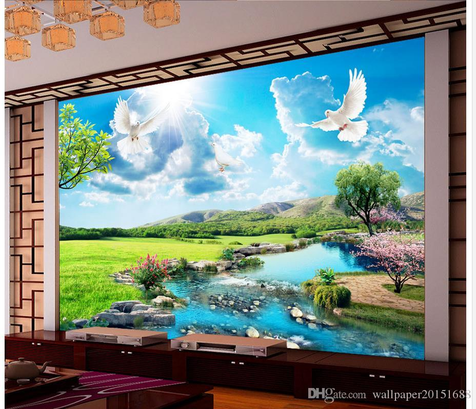 home decor living room natural art beautiful scenery of the river