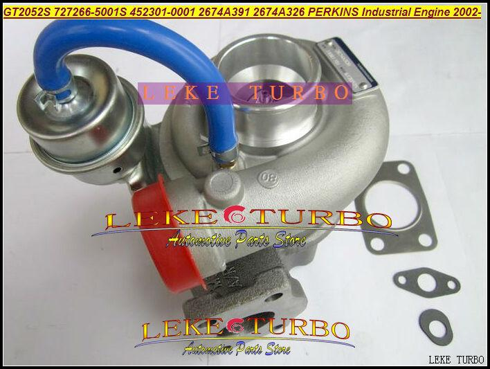 GT2052S 727266-5001S 452301-0001 2674A391 2674A326 Turbo Turbocharger For Perkins Industrial Engine 2002- Diesel (3)