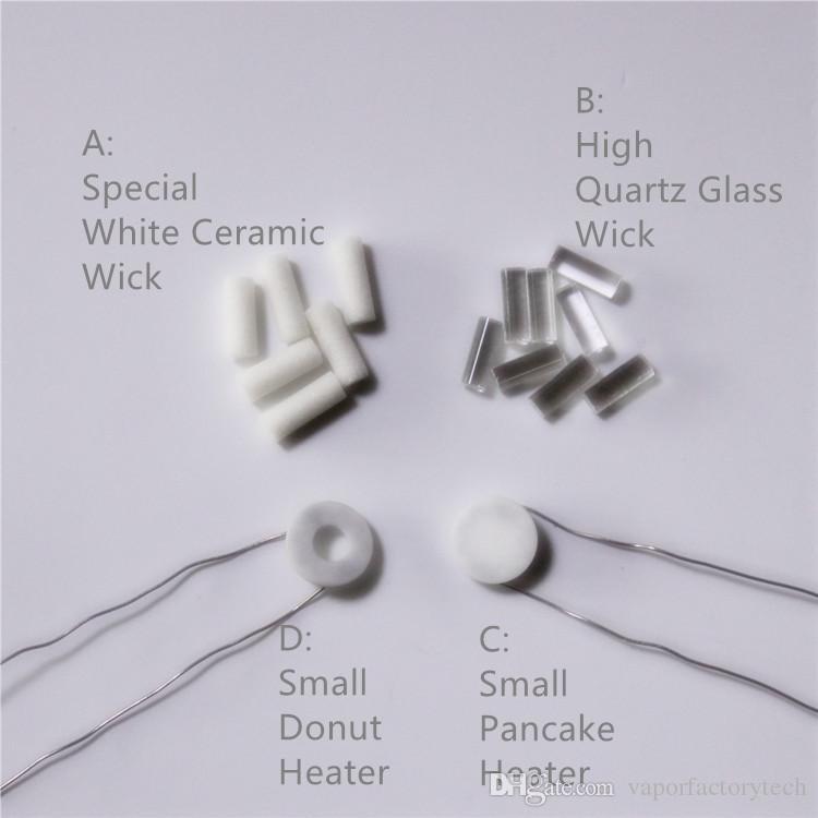 2017 Newest Standard Replacement Wax Coils Globe Glass Coil Ceramic Pancake Coil Ceramic Donut Coil Dual Quartz Coils