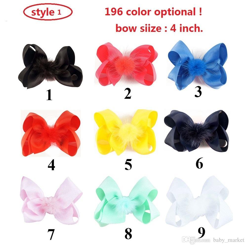 3 Stile Disponibile 4 '' Disegno di nuova Design la festa di danza Colorfully Factpins Handmade con accessori capelli o dolci ragazze carini clip capelli