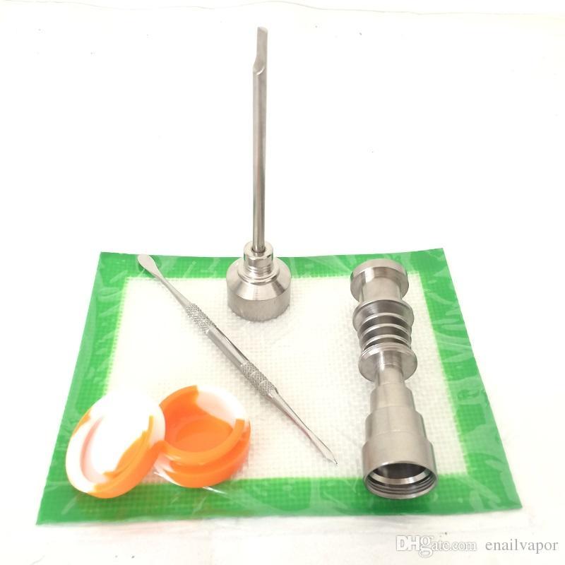 Fábrica Precio BONG Herramienta Set GR2 Nomaness Ti Titanium Clavo 6 en 1 Hombre Male 10 14 18 mm Junta para kits de uñas DAB eléctricos