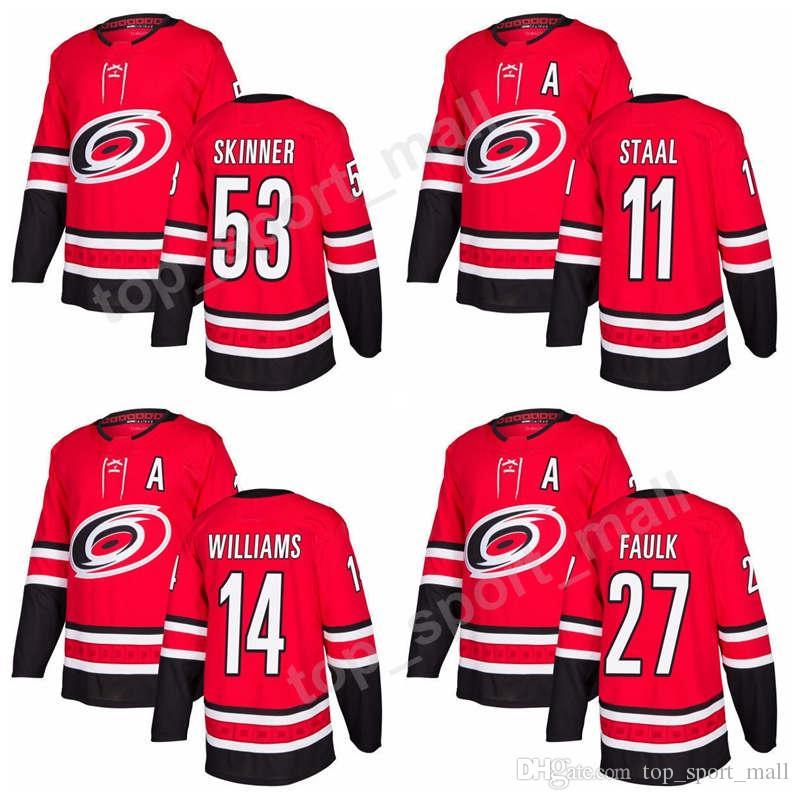 ... andrew poturalski 32 new arrivals carolina hurricanes 53 jeff skinner  jersey ice hockey 2018 new season 11 jordan staal ... e206baae4