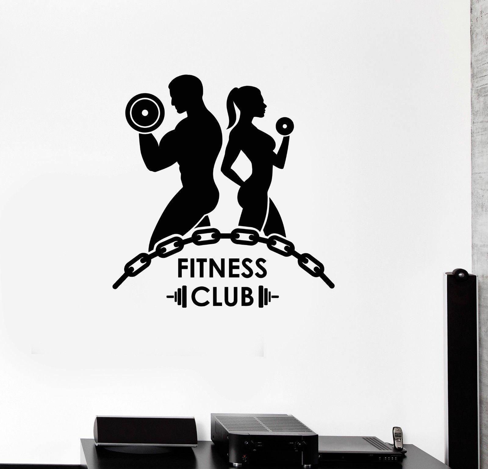 2017 new fitness vinyl wall decal fitness club for Posters para gimnasios